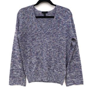 J. Crew flared sleeve marled swing sweater